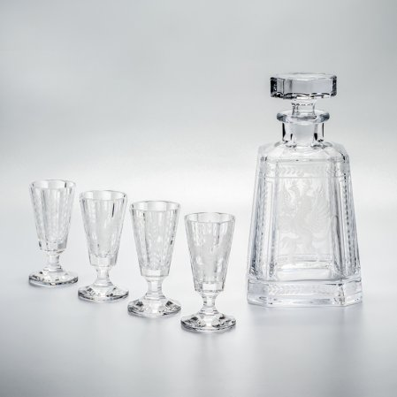 Gryphon & Eagle Pyramid Vodka Decanter Set