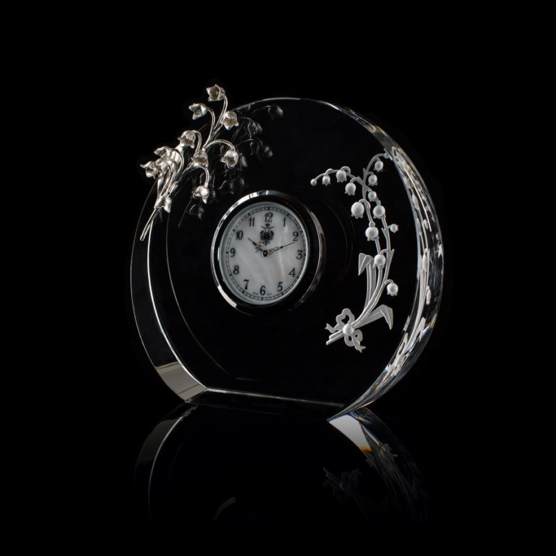 Lilies of the Valley Clock