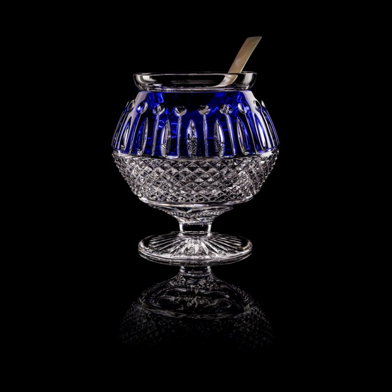 Tsar Caviar Server Blue & Mother of Pearl Spoon