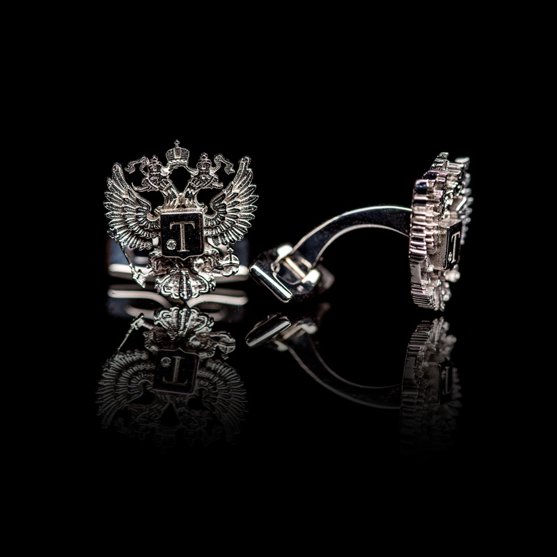 Romanov Eagle & Diamond Cufflinks, pair